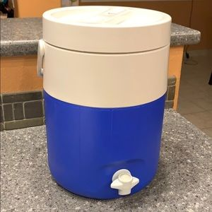 "Coleman drink cooler approximately 13"" tall"